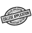 College Application rubber stamp vector image