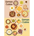 German cuisine dinner icon set for menu design vector image vector image