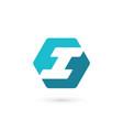 letter i logo icon design template elements vector image