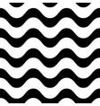 horizontal wavy lines seamless pattern vector image