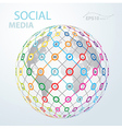 social media element icon globe worldwide vector image vector image