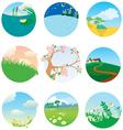 landscapes vector image vector image