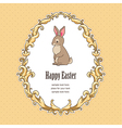 Frame bunny easter vector image