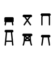 Stool icons vector image vector image