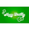 happy birthday lettering vector image vector image