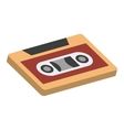 Cassettes isometric 3d icon vector image