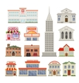 City Buildings Decorative Icons Set vector image