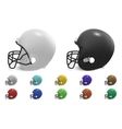 football helmets set vector image