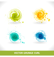 Grunge Curl vector image