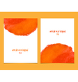 orange and red watercolor background vector image