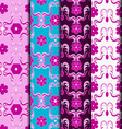 Seamless pattern abstract style Moroccan tiles vector image