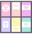 Set of greetinginvitation card templates vector image