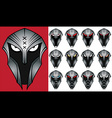spartan warrior face profile design vector image