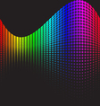 Spectrums representing RGB color space vector image