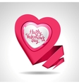 Valentines Day background Origami speech bubble vector image vector image