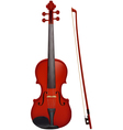 Violin with the fiddlestick vector image