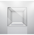 glass showcase vector image vector image