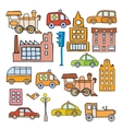 Transport in the style of cartoon vector image vector image