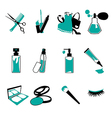 Cosmetic make up and beauty icons vector image