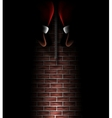 Santa Claus in chimney vector image