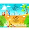 Surf Banner Horizontal vector image vector image