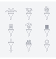 filter line icons vector image
