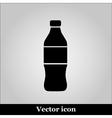 Bottle Icon on grey background vector image