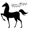 Horse silhouette on white background vector image