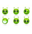 alien faces vector image