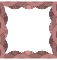 border with striped circular in color vector image