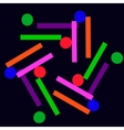colored balls and rectangles-01 vector image