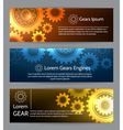 Digital engineering banner set Teamwork or vector image