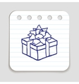 Doodle Gift Box icon vector image