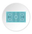 ice hockey rink icon circle vector image