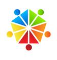 People Team Pentagon Logo vector image
