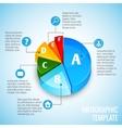 Pie chart web design infographic vector image