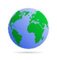 pixel earth globe vector image