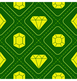 Seamless pattern with diamond icons vector image