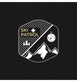 Stamp ski patrol camp Tourism hipster style patch vector image