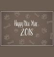 text of the happy new year 2018 vector image