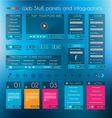 transparent infographics web vector image