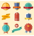 Vintage retro flat badges labels vector image