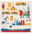 Oil Industry Decorative Icons Set vector image vector image