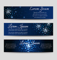 abstract horizntal banners with light effects vector image