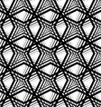 Stripes geometric seamless pattern black and white vector image