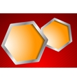vector template with hexagons vector image vector image