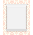 vintage frame moldings on retro wallpaper vector image vector image