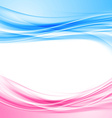 Bright blue and pink border abstract background vector image