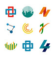 abstract corporate symbols design set vector image