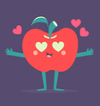 Cute Apple Phone Crazy in Love vector image